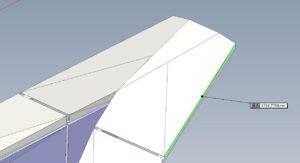 3Dモデルで描いた笠木