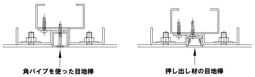 カットパネル 目地棒の種類