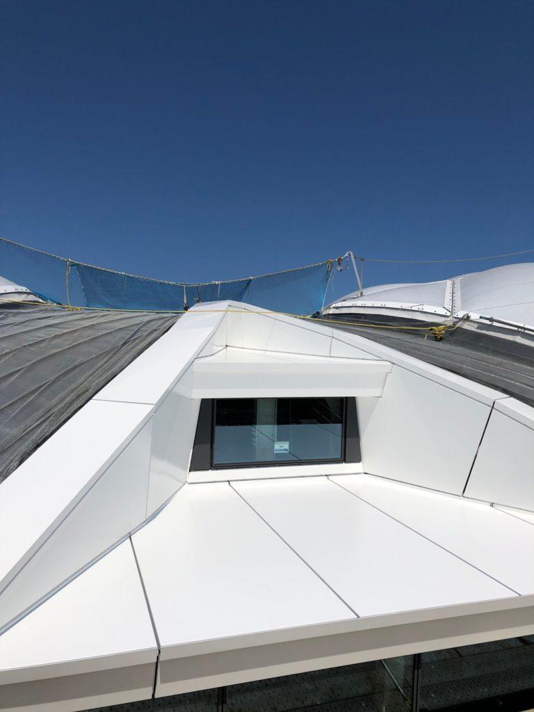 アルミ笠木 屋根パネル 3D設計